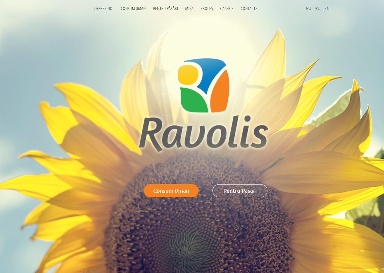 Сайт по продаже семян подсолничнека - http://ravolis.md/